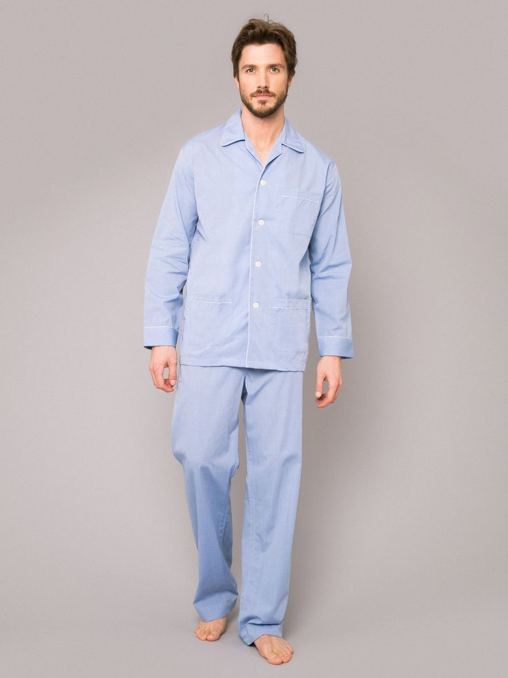 Buy Our Mens Pyjamas Online From Derek Rose,Including Mens Pyjamas Maestro  2 Blue.