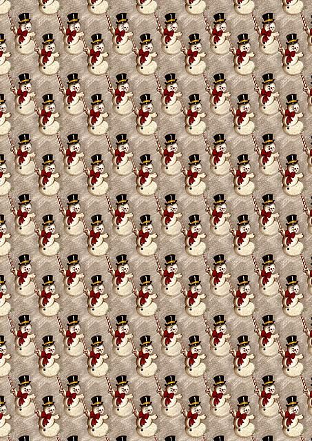 Another Traditional backing papers featuring snowmen.