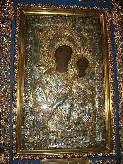 Παναγία η Οδηγήτρια (Ιερά Μονή Χιλανδαρίου, Άγιο Όρος)- The icon of the Panaghia Hodegetria (The Holy Monastery of Chilandari, Mount Athos)