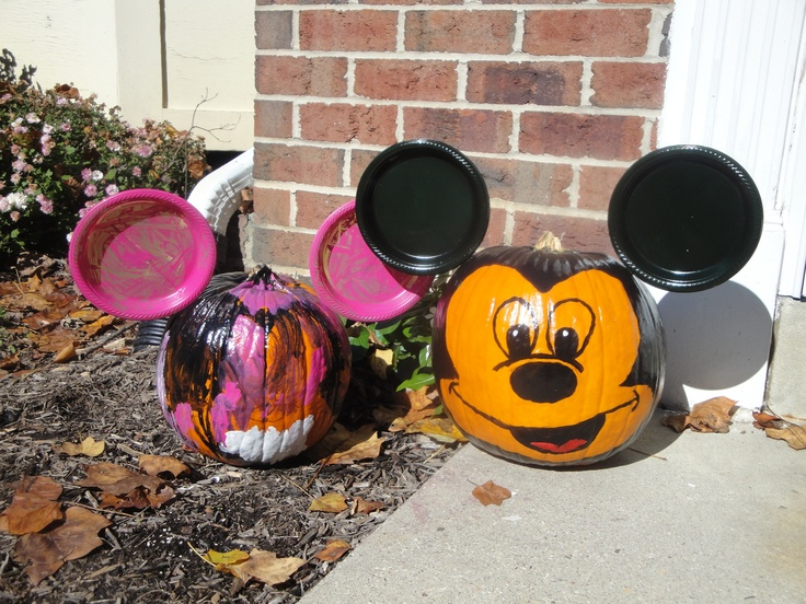 1000 images about pumpkins on pinterest for How to paint a mickey mouse pumpkin