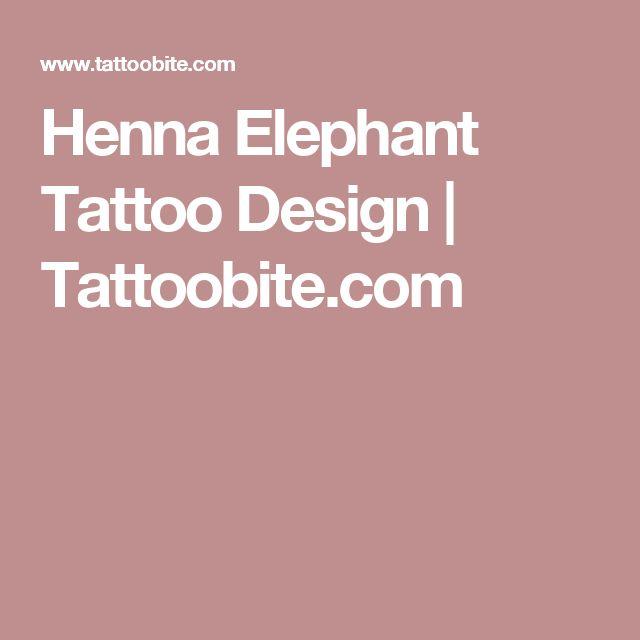 Henna Elephant Tattoo Design | Tattoobite.com