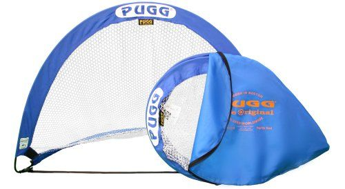 PUGG 4 Footer Portable Training Goal (One Goal & Bag) The PUGG portable soccer training goals offer an innovative, lightweight and collapsible design that you can easily carry to the field. These goals set-up quickly and can be secured down with the included achoring pegs so youre quickly ready for games or drills. They fold down to a 1-in...