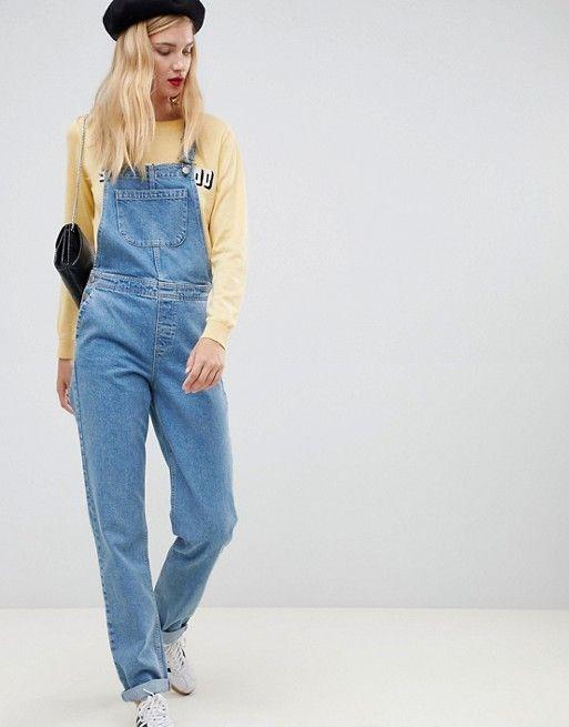18cbd181 DESIGN Tall denim overall in stonewash blue | Fashion | Overalls ...