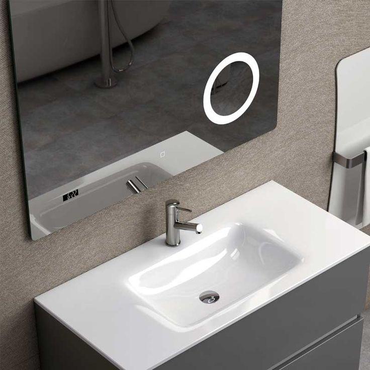 Holmes   Coycama   espejo LED para baño con lupa   Espejos ...