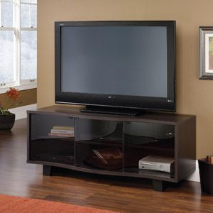 Sauder Dakota Oak Entertainment Credenza For TVs Up To 60