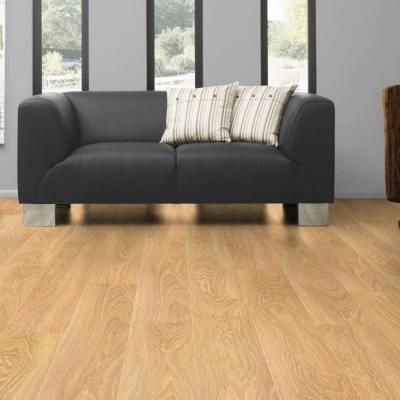 Kronotex mammut limed oak 12 mm thick x 7 3 8 in wide x for Square laminate flooring