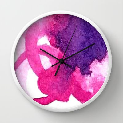 Watercolor Wall Clocks by Amee Cherie  Available here: http://society6.com/product/kate-spade-oxo_wall-clock#33=283&34=286