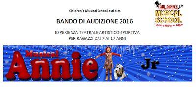 Claudia Grohovaz: ANNIE JR al Teatro Manzoni - Bando di audizione
