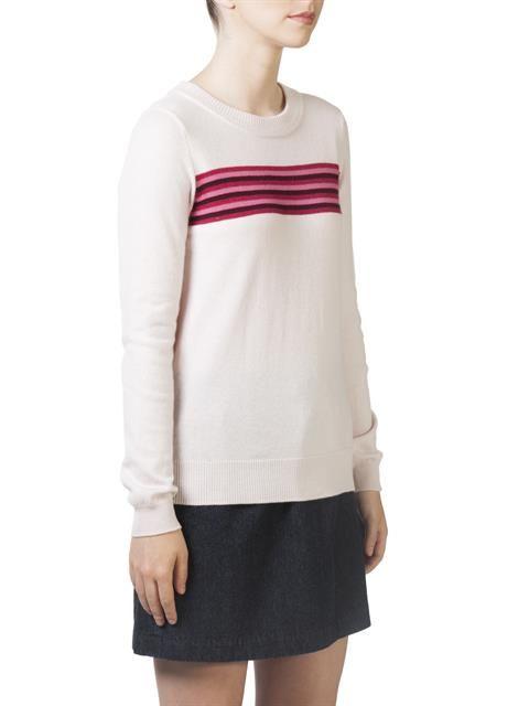 Stripe front sweater