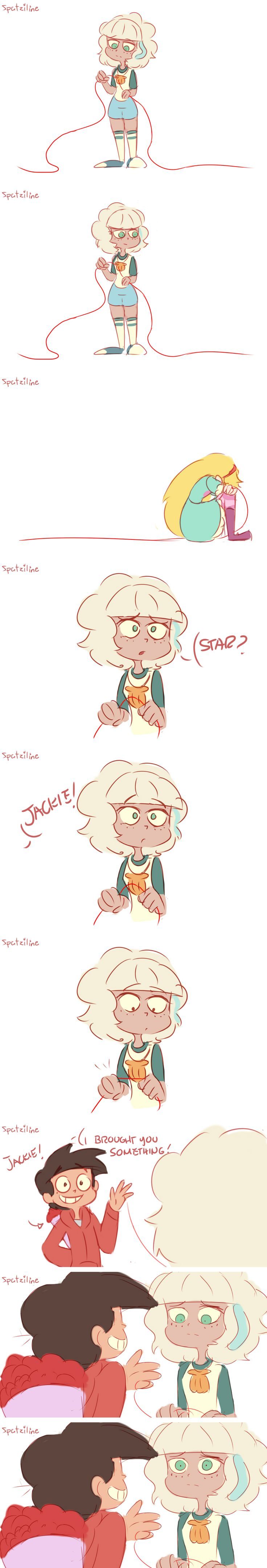 Jackie sees the red string of fate | Star vs. the Forces of Evil | Know Your Meme