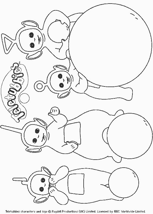 23 best colorear teletubbies images on pinterest colouring in anniversary ideas and birthday - Coloriage teletubbies ...