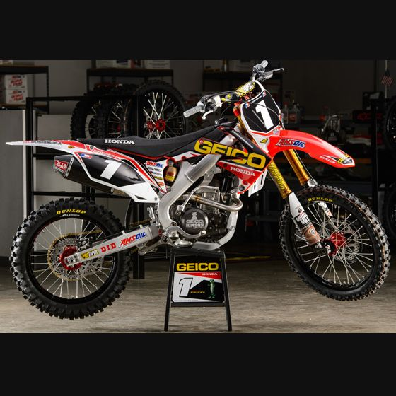 Kit Déco Complet Honda GEICO Replica Officiel 2013 - Alias MX