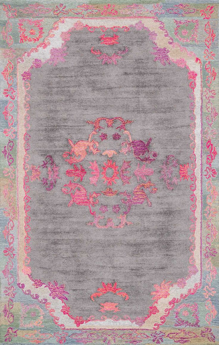 This Is Rugs USAu0027s Bavoda BD02 Hand Tufted Sunny Medallion Floral