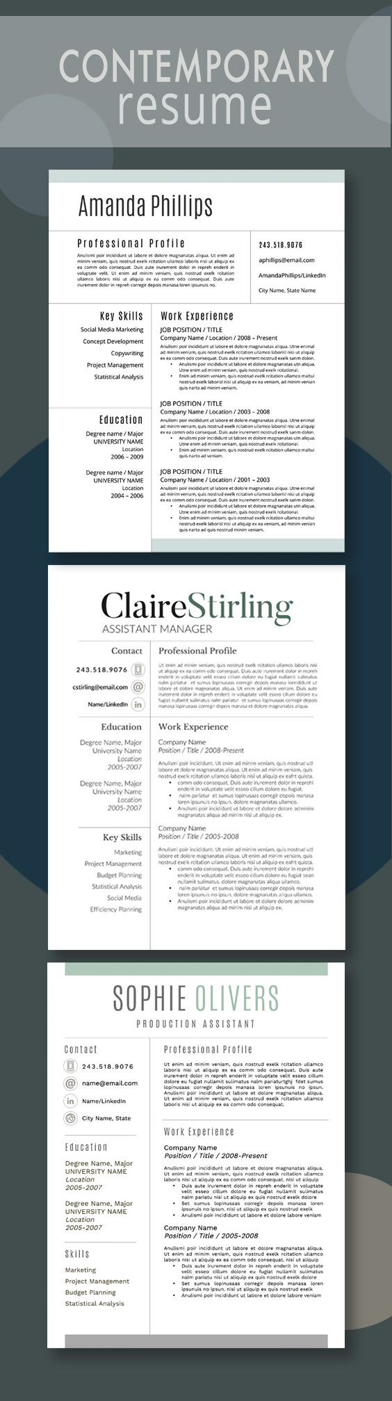 Functional Resume Template Microsoft%0A Contemporary Resumes from Resume Foundry