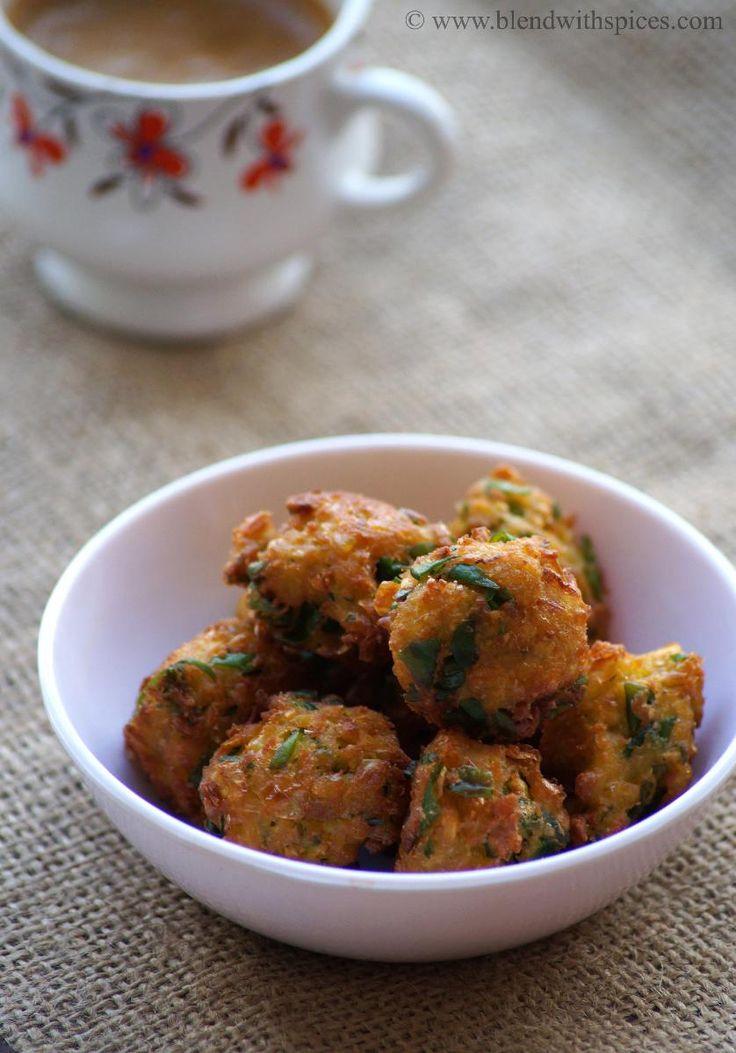 Corn Methi Pakoda Recipe - Corn and Fenugreek Leaves Fritters - Sweet Corn Recipes   Indian Cuisine