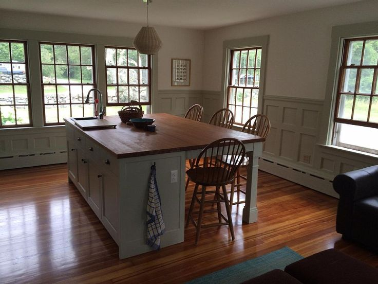 5' x 8' kitchen island - Westport farmhouse rental