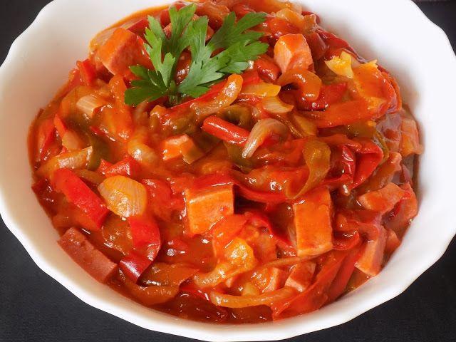 magiczna kuchnia Kasi: Leczo z kiełbasą