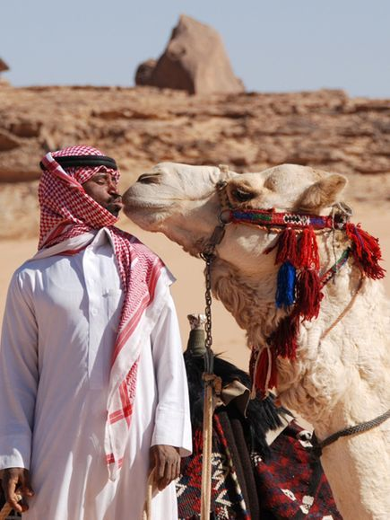 Man and Camel, Saudi Arabia