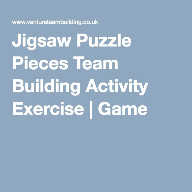 Jigsaw Puzzle Pieces Team Building Activity Exercise | Game More