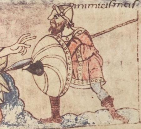 Psautier de Stuttgart (9°s): la société carolingienne est fortement inspirée par l'Empire Romain, notamment sur l'organisation militaire de l'Empire. - 28)  DEMELES CONJUGAUX DE LOTHAIRE II: Malgré la fuite de la reine, malgré la rétraction de ses aveux, malgré les réserves émises par l'archevêque de Reims, GUNTHER se décide à réunir un nouveau concile des évêques, pour parachever ce que les deux 1° n'avaient pas terminé.