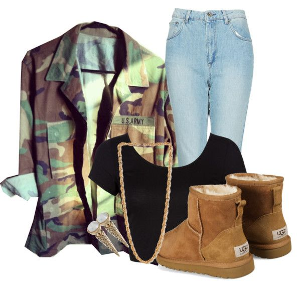Army outfit - i love this minus the uggs