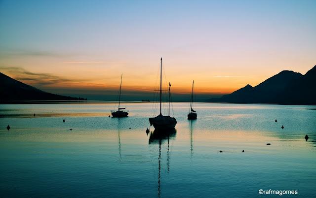 Sunset at Lake Garda, Italy