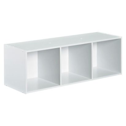Closetmaid Cubeicals Stackable 3 Cube Organizer   White $24/ I Wonder If I  Could