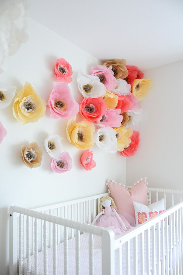 Flower wall in the nursery!