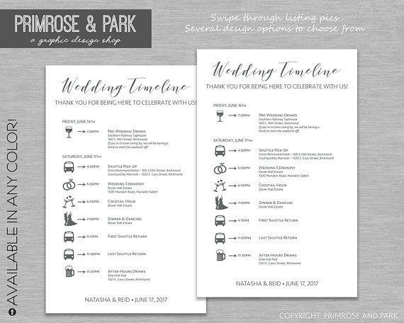 Wedding Timeline Cards Wedding Weekend Timeline Wedding Itinerary With Icons Weddingparty Timeline Wedding Welcome Bags Template Wedding Timeline Wedding Itinerary Wedding Weekend Itinerary