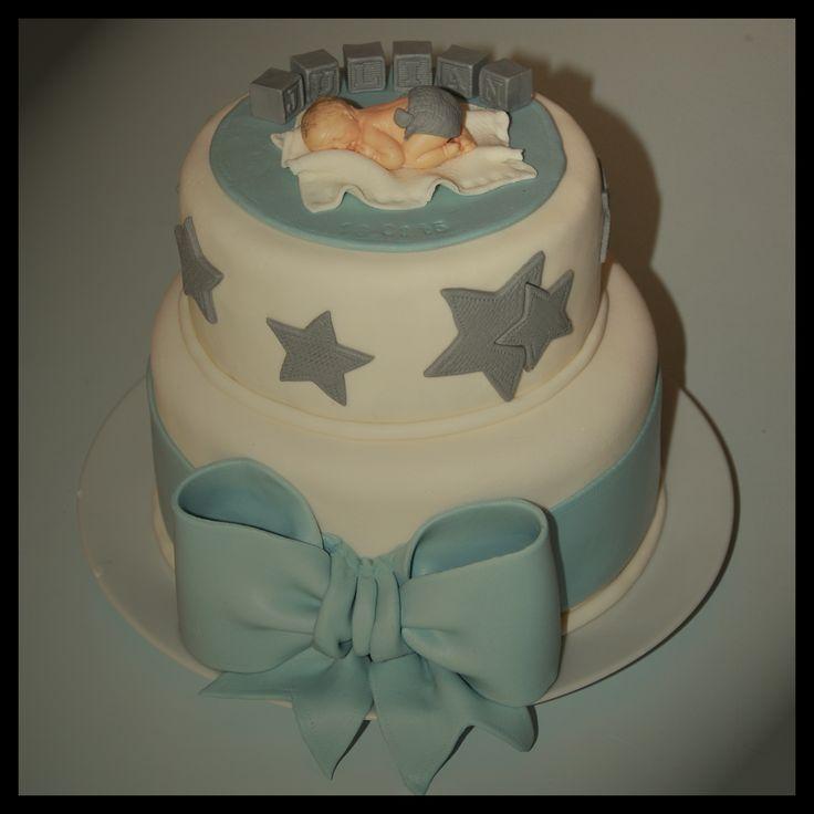 Baptism cake boy