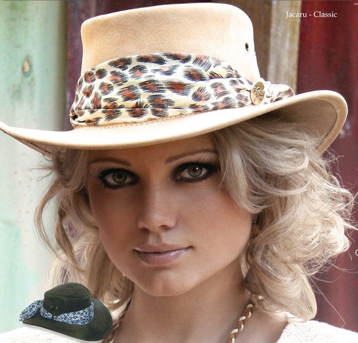 1020 Jillaroo - Pigskin hat - Sand by Jacaru Australia