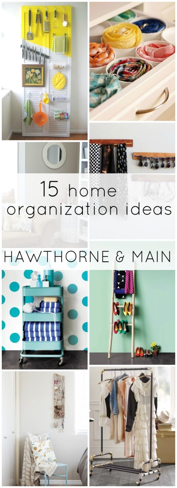 15 Home Organization Ideas that are sure to get you inspired to be more organized!! Love these ideas!!