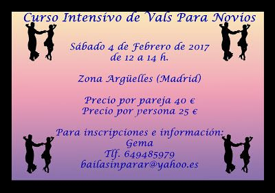 Baile Nupcial en Madrid Clases particulares: CURSO INTENSIVO DE VALS PARA NOVIOS EN MADRID