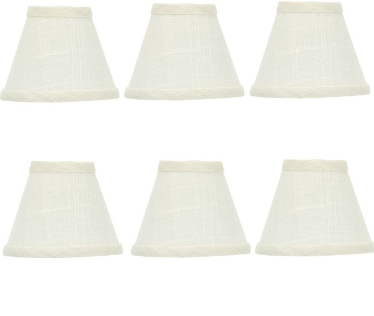 298 best lamp shades images on pinterest lamp shades light mini chandelier shades clip on small lamp shade set of six white linen you mozeypictures Choice Image