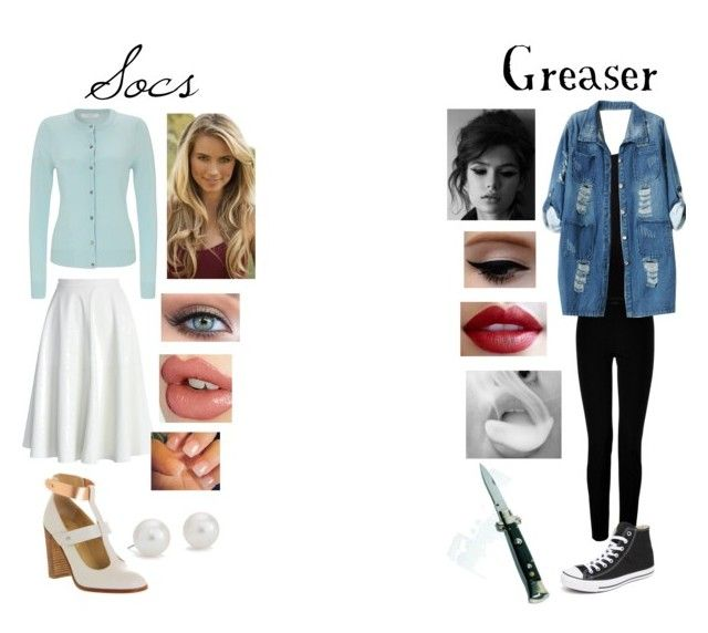 Greasers and Socs! by stay-gold-ponyboy-1 on Polyvore featuring polyvore fashion style John Lewis DAY Birger et Mikkelsen Chicnova Fashion Chicwish Joseph Converse Blue Nile Charlotte Tilbury Victoria's Secret clothing