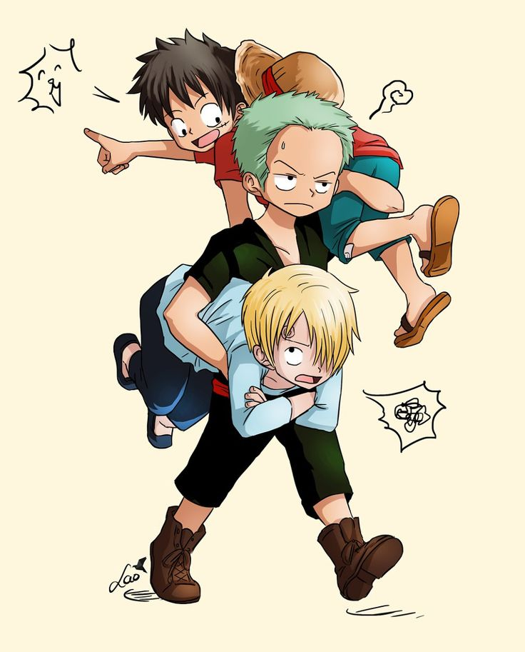 One Piece, Strawhat Pirates, Zoro, Luffy, Sanji