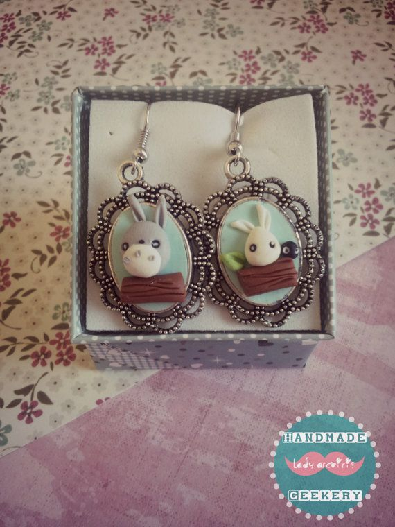 Pendientes vintage Totoro/ Vintage Totoro earrings