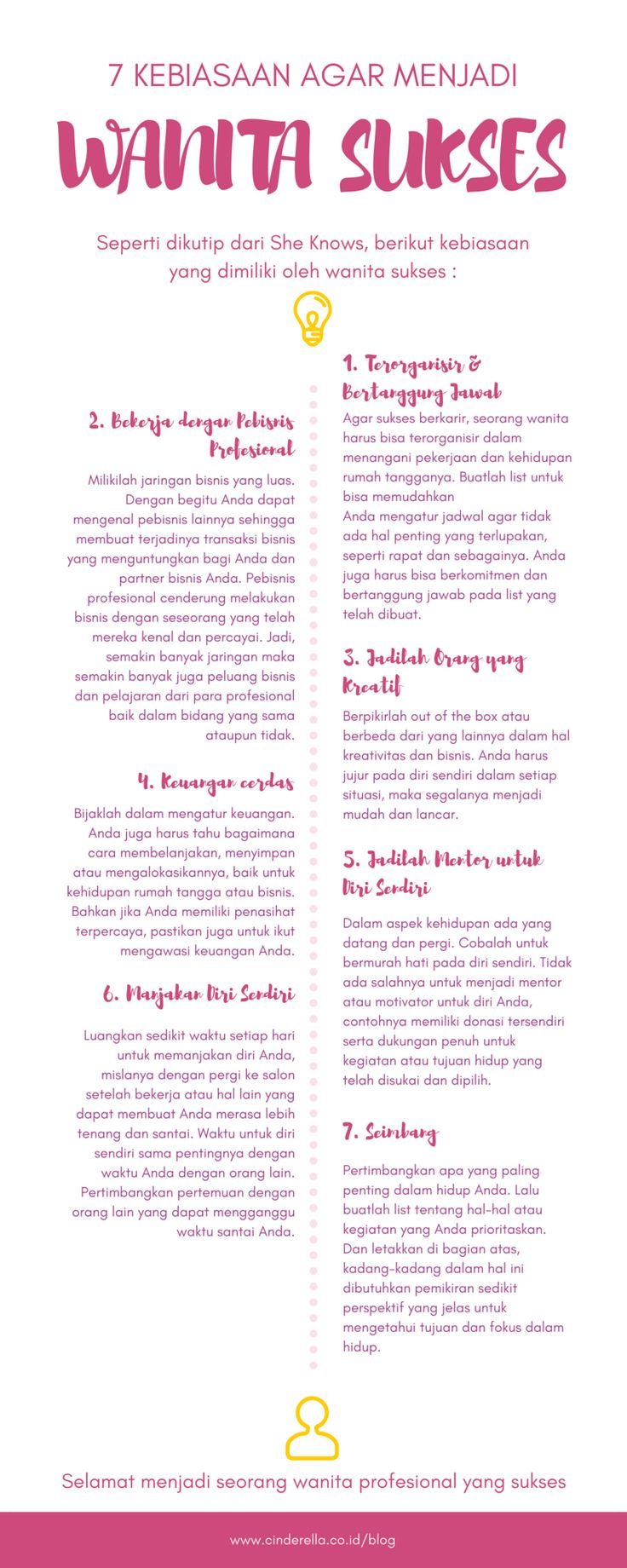 7 Kebiasaan Agar Menjadi Wanita Sukses