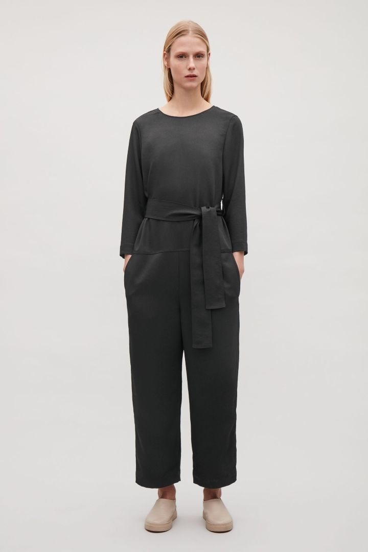 dcc01b0f18d6 COS image 1 of Belted jumpsuit in Black