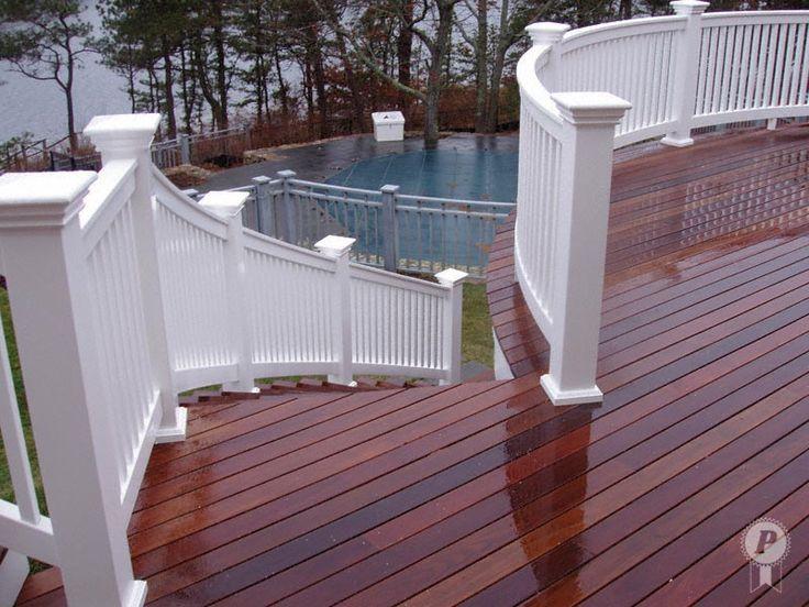 Perfection Vinyl Deck Railing  more Deck Railing Ideas http://awoodrailing.com/2014/11/16/100s-of-deck-railing-ideas-designs/
