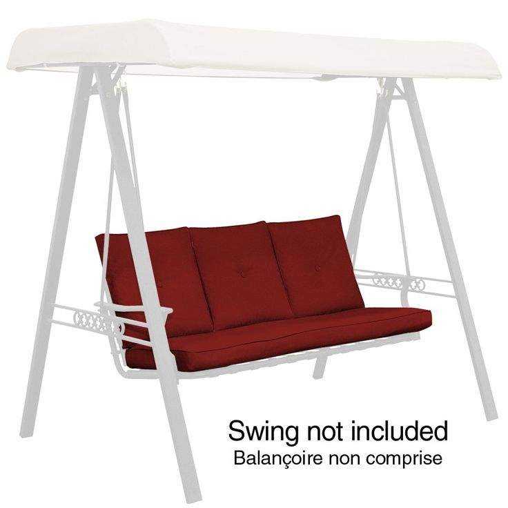Garden Treasures North Haven Solid Red Swing Cushion