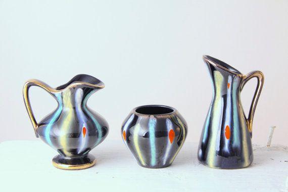 Trio of Jasba Keramik