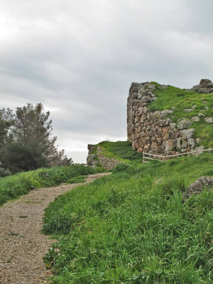 The cyclopean walls (13th c. BC) of Ancient Tiryns Mycenaean Citadel (16th c. BC). Ancient Tiryns was inhabited since the Neolithic Age (7th- 4th Millenium BC) and is a UNESCO World Heritage Site.