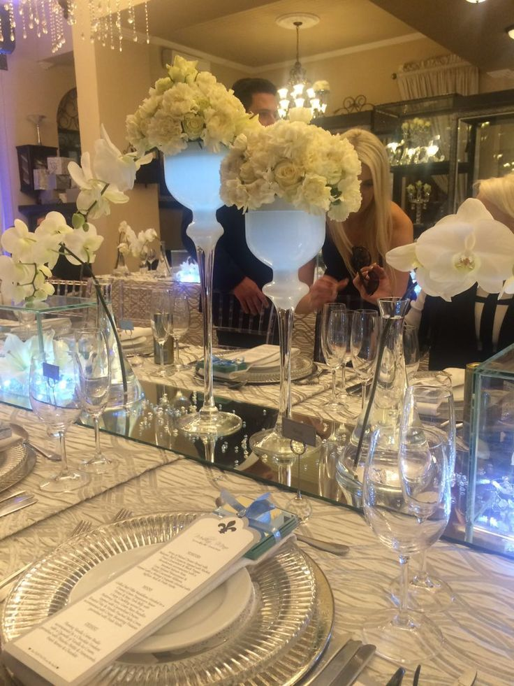 Exquisite mirror glass crystal and lights decor