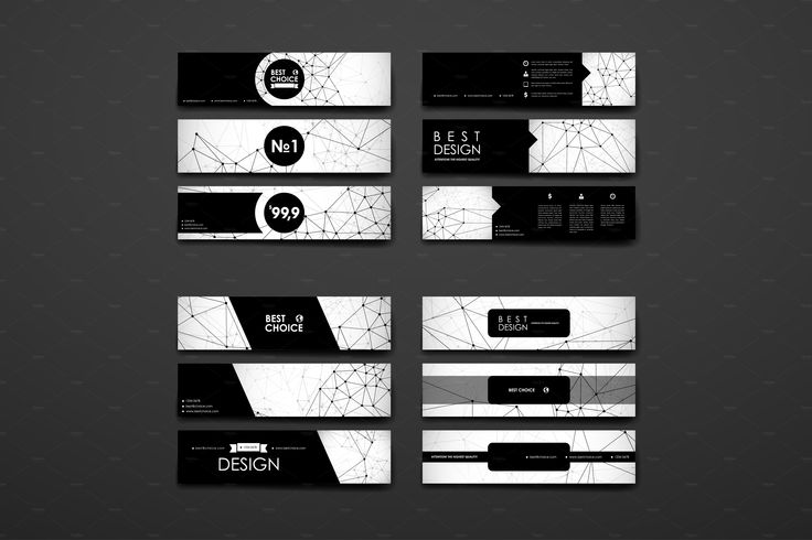 Set of Banners in Molecular Style by Palau on @creativemarket