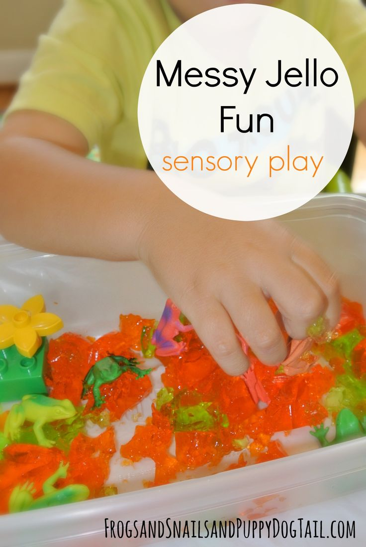 Messy Jello Fun A Sensory Activity For Toddlers And