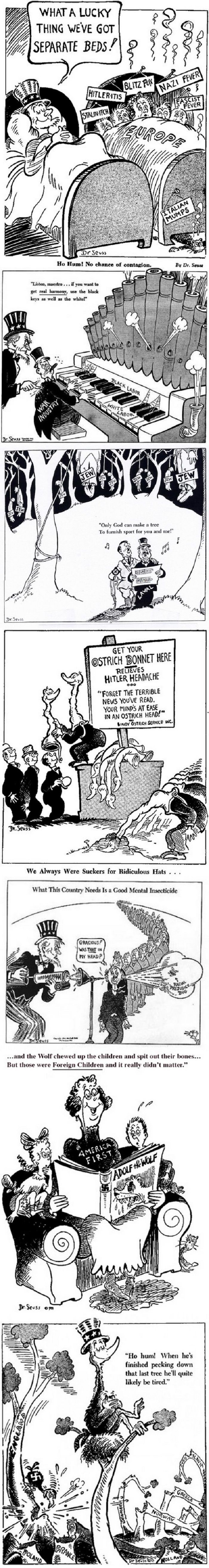 Dr.Seuss political cartoon<<<I love old political cartoons(because it is not contemporary anymore this will go in history)