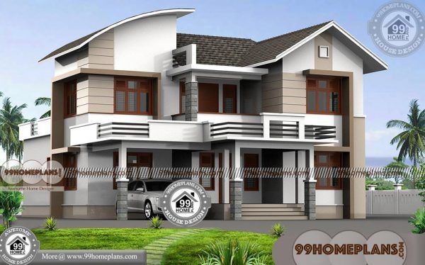 4 Bedroom Double Storey House With Best Contemporary Modular Design Kerala House Design Double Storey House House Design House designs indian style 4 bedroom