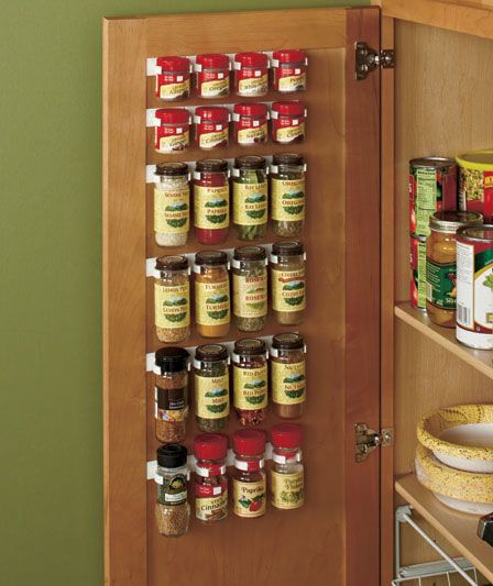 Spice Storage Solutions | LTD Commodities. It's hard to find hardware for cupboard organization. This is a great site!!