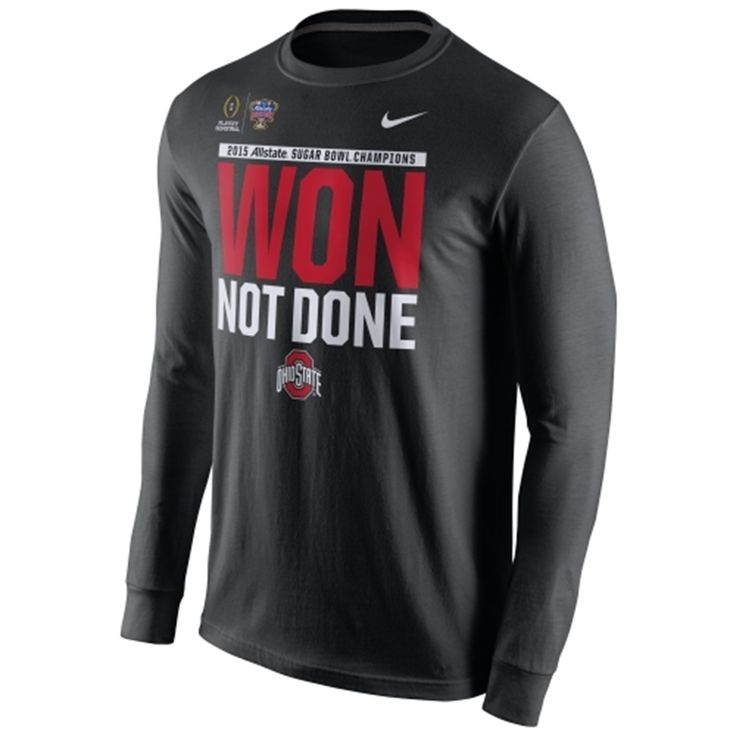 Ohio State Buckeyes Nike 2015 Sugar Bowl Champions Locker Room Long Sleeve T-Shirt - Black